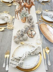 bianco e oro per le feste