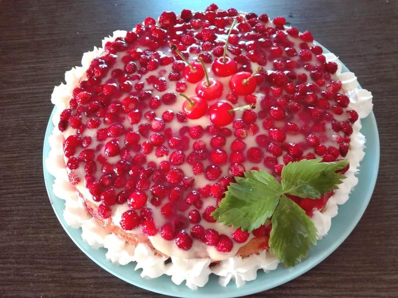 torta fragoline di bosco
